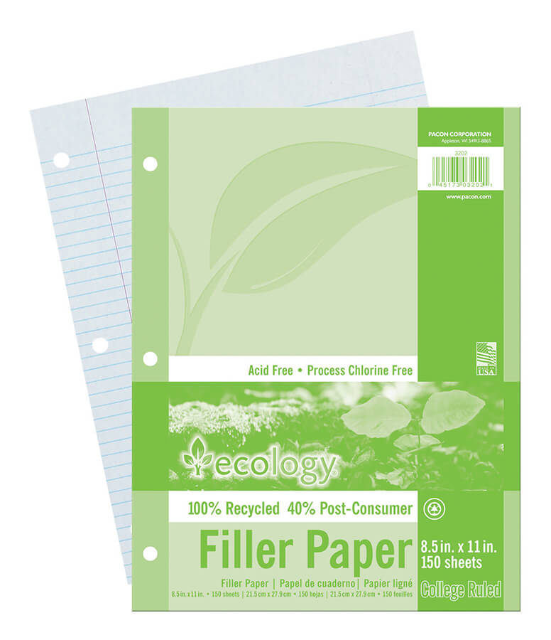 Ecology® Recycled Pacon® Filler Paper  View More Products