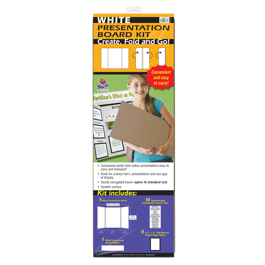 Pacon® Extra Fold Presentation Board Kit