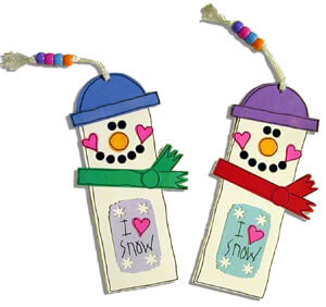 Snowman Bookmarks Projects