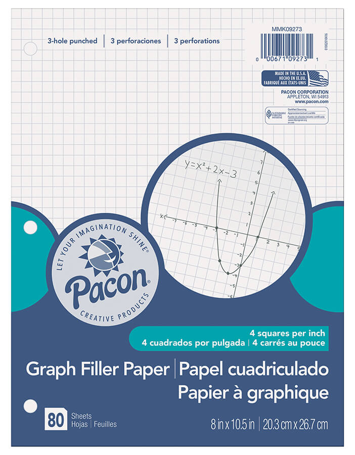 Pacon® Graph Filler Paper