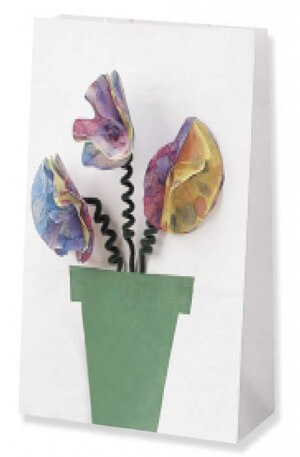 Mosaic Flower Gift Bag