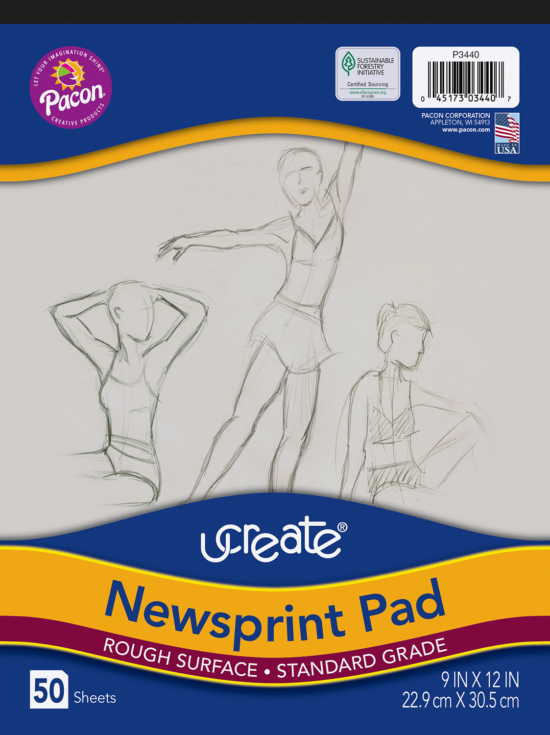 UCreate® Newsprint Pad