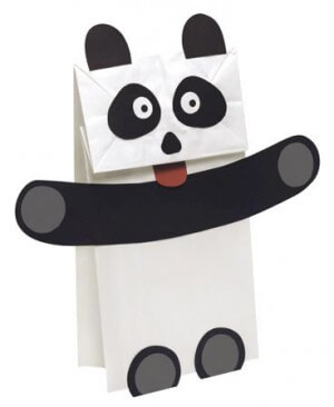 Panda Puppet Craft Project