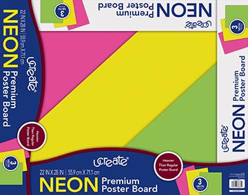UCreate® Neon Poster Board