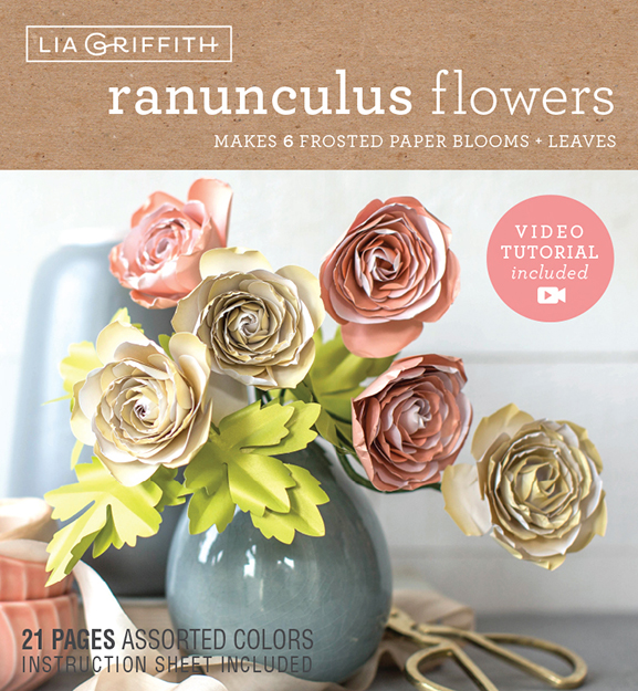 Lia Griffith Frosted Paper Blooms